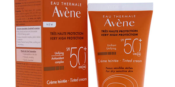 crema solar coloreada Avéne SPF50 oferta