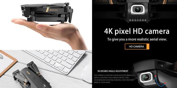 Dron V4 4K con accesorios y 2 baterías en oferta en Aliexpress