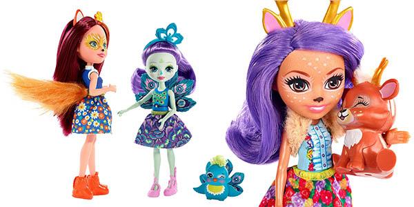 Enchantimals muñecas con mascota chollo