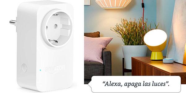 Enchufe inteligente Amazon Smart Plug Wi-Fi compatible con Alexa barato