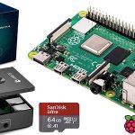 Kit Raspberry Pi 4 Model B de 4 GB con carcasa y SD de 64 GB