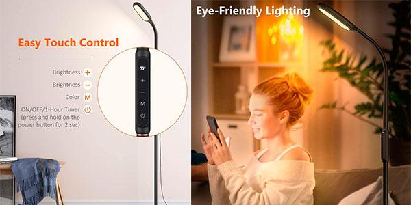 Lámpara de pie TaoTronics LED regulable con memoria y temporizador barata