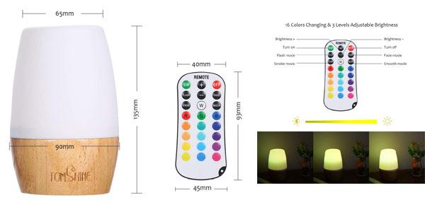Lampara de mesa LED RGB Tomshine en oferta en Amazon