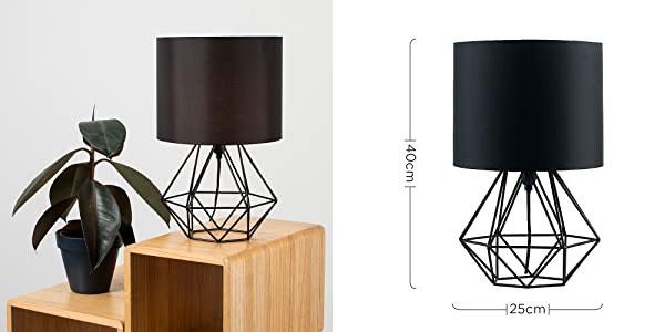 Lámpara de mesa negra Angus Minisun barata en Amazon