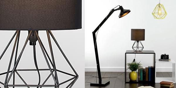 Lámpara de mesa negra Angus Minisun en oferta en Amazon