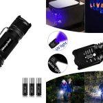Linterna LED 2 en 1 con luz ultravioleta barata en Amazon