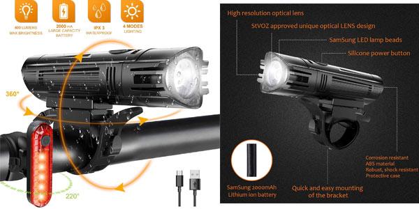 Luces LED recargables para bici Wotek