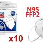 Pack 10 Mascarillas KN95 FFP2 barato en AliExpress
