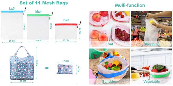 Pack x11 Usetcc Bolsas compra reutilizables chollazo en Amazon