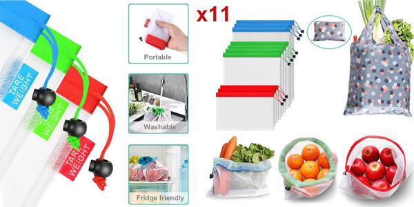 Pack x11 Usetcc Bolsas compra reutilizables barato en Amazon