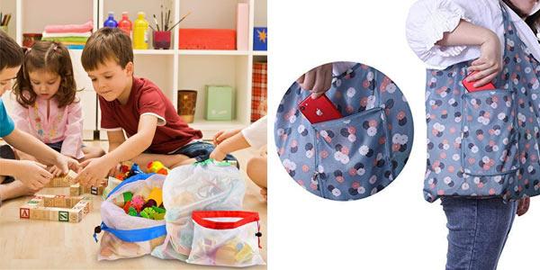 Pack x11 Usetcc Bolsas compra reutilizables chollo en Amazon