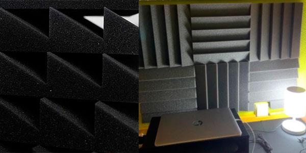 Pack de 12 planchas de espuma acústica barato