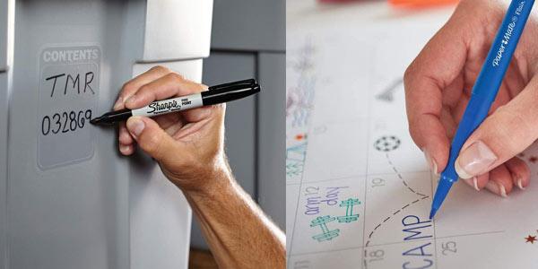 Pack de 16 rotuladores Sharpie permamentes Paper Mate punta fina en oferta en Amazon