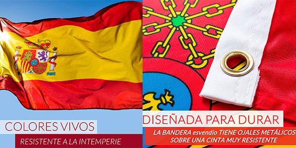 Pack de 2 banderas de España grandes (150 x 90 cm) en oferta