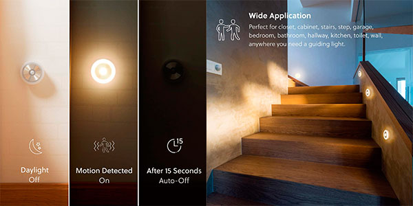 Pack x2 Luz nocturna LED Bedsure con sensor de movimiento en oferta