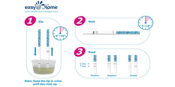 Pack x25 Pruebas de ovulación ultrasensibles Easy Home chollo en Amazon