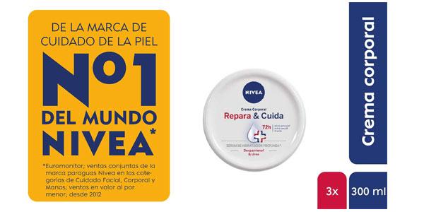 Pack 3 cremas Nivea Repara y Cuida barata en Amazon