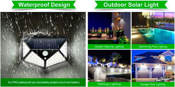 Pack de 4 luces solares LED de exterior Goodland en oferta