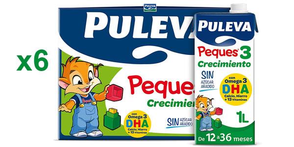 Pack x6 Leche de crecimiento Puleva Peques 3 barato en Amazon