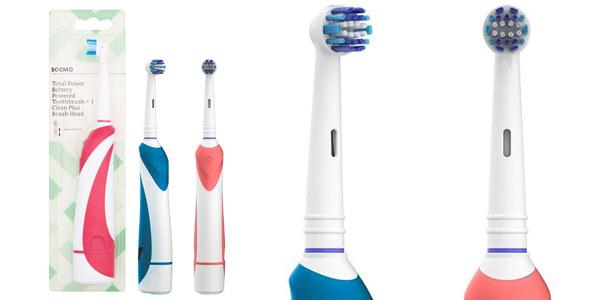 PAck 2 cepillos eléctricos de dientes a pilas Amazon Solimo al mejor precio