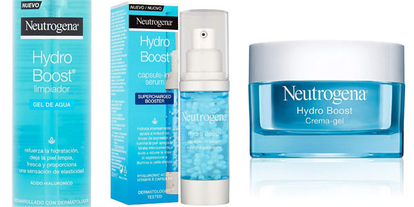 Pack Neutrogena Hydro Boost con gel, serum y crema en oferta en Amazon