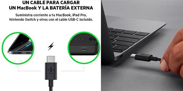 Batería externa Belkin Boost Charge 20K USB-C + Cable USB-C con PD de 20.100 mAh barata
