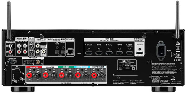 Receptor AV Denon AVR-S650H de 5.2 canales con control de voz barato