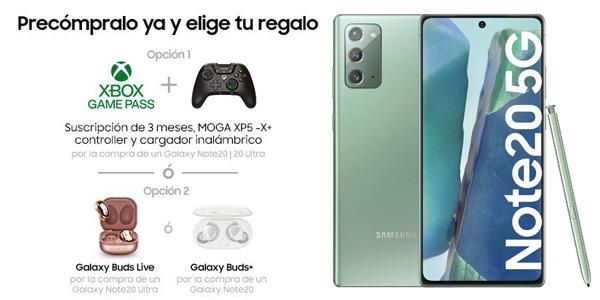 Reserva ahora tu smartphone Samsung Galaxy Note20 y llévate un regalo