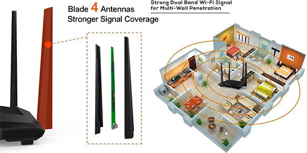 Router Tenda AC10 Gigabit de doble banda barato