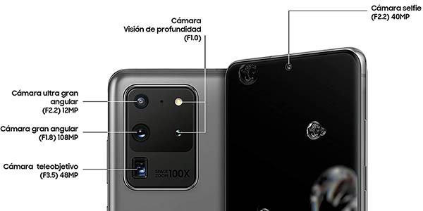 Samsung Galaxy S20 Ultra 5G en color gris