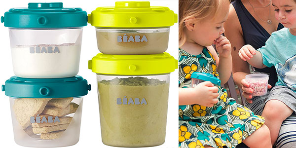 Set Béaba de 6 potes de conservación de comida de 200 ml para bebés barato