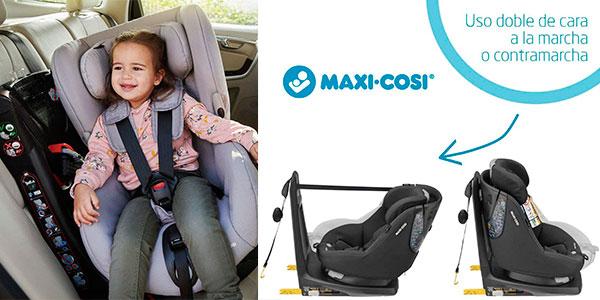 Silla de coche Maxi-Cosi Axissfix giratoria 360° para bebés en oferta