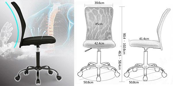 Silla de oficina giratoria de malla ergonómica barata