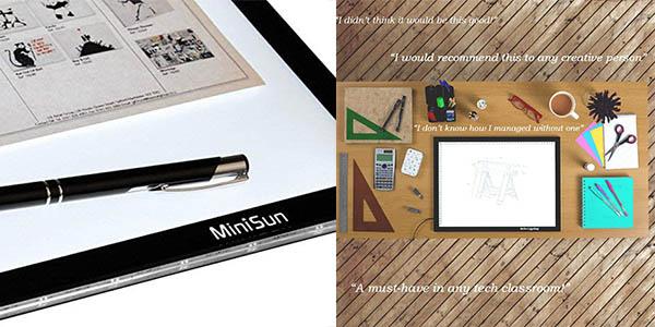 tableta de luz Minisun A4 oferta Amazon con valoraciones estupendas