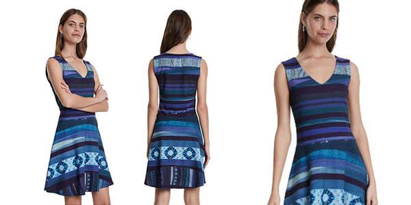 vestido estampado Desigual evasé barato