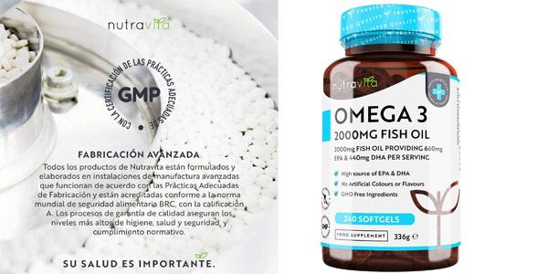 Envase 240 Cápsulas Omega 3 Nutravita de 2.000 mg barato en Amazon