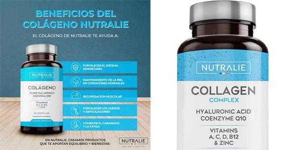 Envase 60 Cápsulas Nutralie Colágeno + Ácido Hialurónico + Coenzima Q10 + Vitaminas A, C, D y B12 + Zinc barato en Amazon