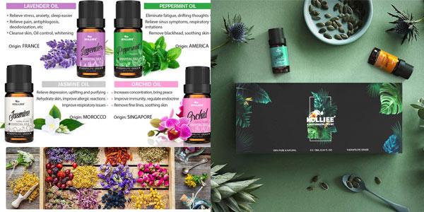Aceites esenciales para aromaterapia Kollie en oferta en Amazon