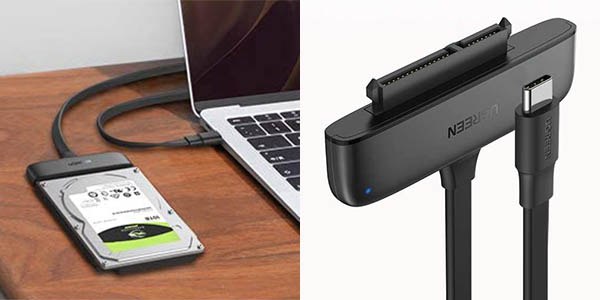 Adaptador Ugreen SATA a USB C 3.1