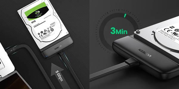 Adaptador Ugreen SATA a USB C 3.1 barato