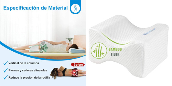 Almohada de bambú Viewstar para dormir entre las piernas barata en Amazon