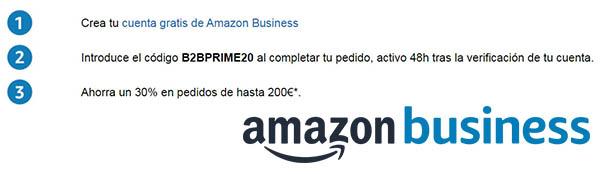 Amazon Business cupón descuento B2BPRIME20