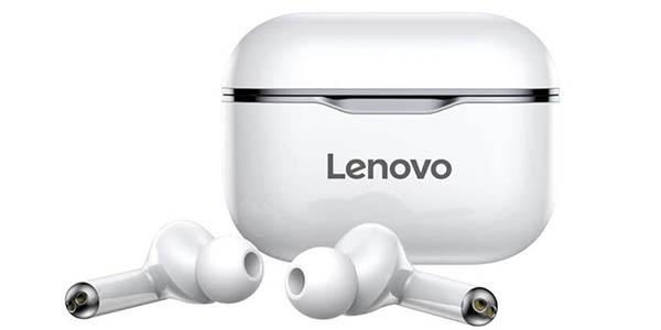 Auriculares inalámbricos Lenovo LP1 con estuche de carga