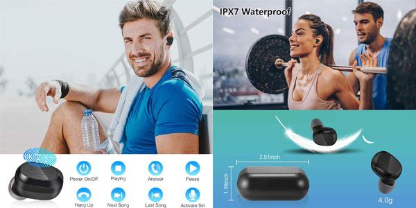 Auriculares TWS Basspal en oferta en Amazon
