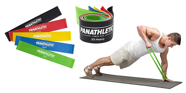 bandas elásticas para fitness y musculación Panathletic oferta