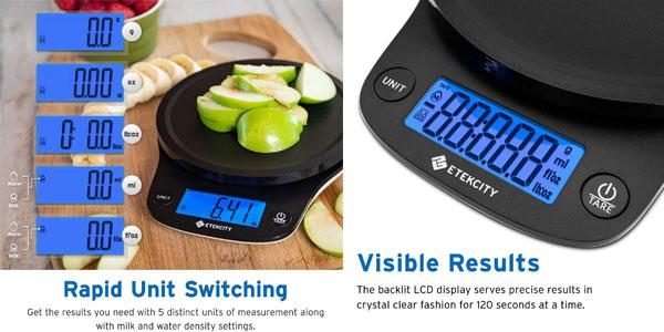 Báscula de cocina digital Etekcity con sensor de precisión chollo en Amazon