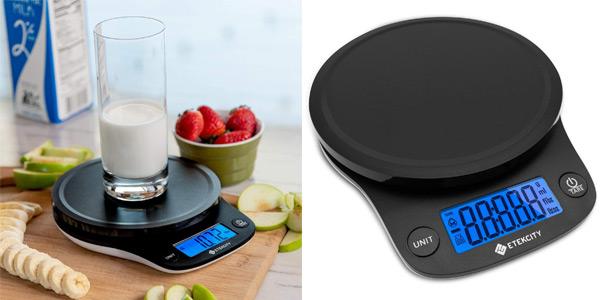 Báscula de cocina digital Etekcity con sensor de precisión barata en Amazon