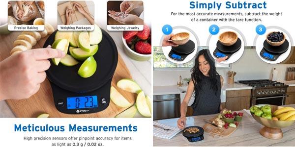 Báscula de cocina digital Etekcity con sensor de precisión oferta en Amazon