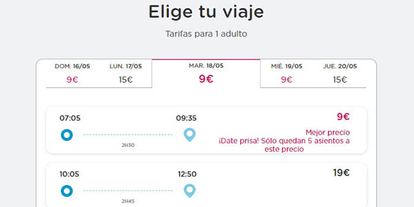 Billetes Ave low cost Ouigo ofertas viajes 2021