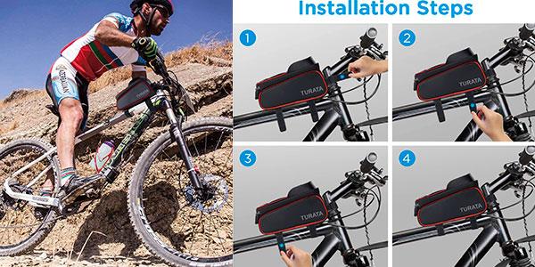 Bolsa de bicicleta impermeable Turata barata